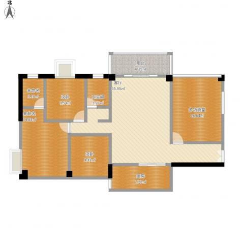 金岸领寓2室1厅1卫1厨149.00㎡户型图