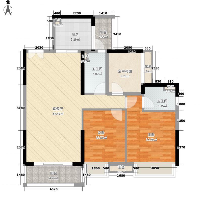 乐从钜隆风度广场15.45㎡4座03户型3室2厅2卫1厨