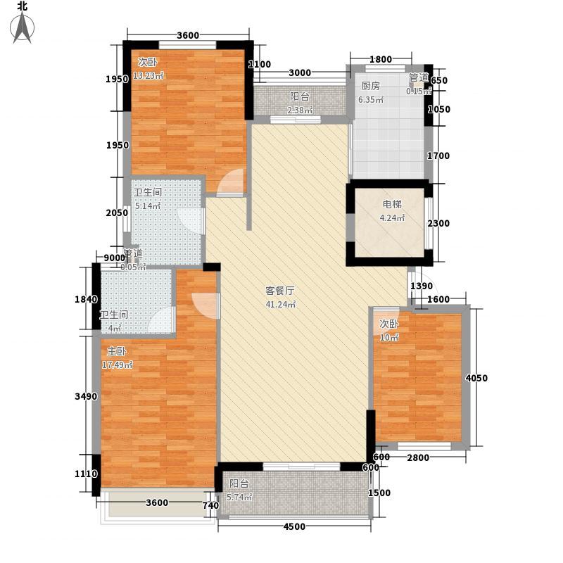 福港・好莱坞147.52㎡剪刀手爱德华4户型3室2厅2卫1厨