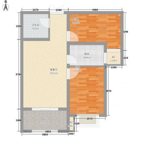 天逸城1厅1卫1厨89.00㎡户型图
