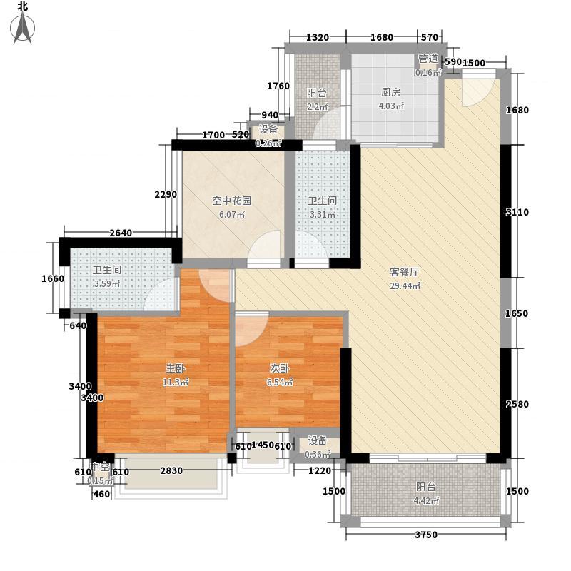 乐从钜隆风度广场2.48㎡广场5座03户型3室2厅2卫1厨