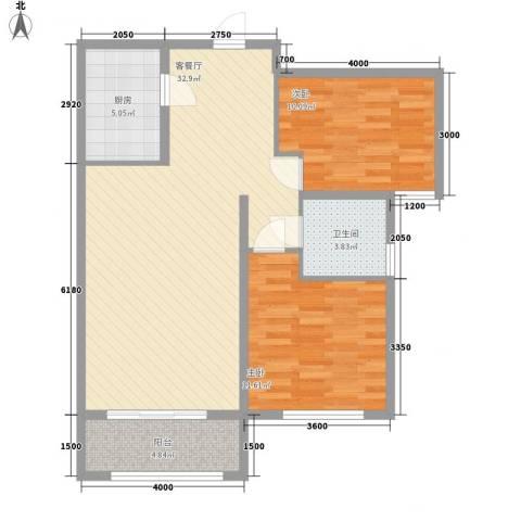 泛泰依山郡2室1厅1卫1厨68.33㎡户型图