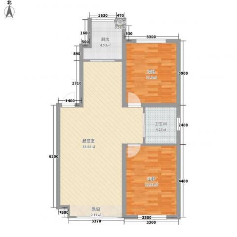 凯荣禧乐都2室0厅1卫1厨84.00㎡户型图