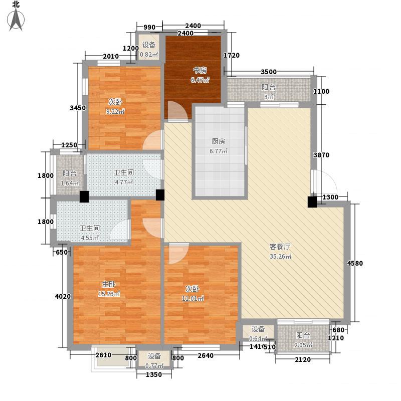 日月星城户型4室2厅1卫1厨