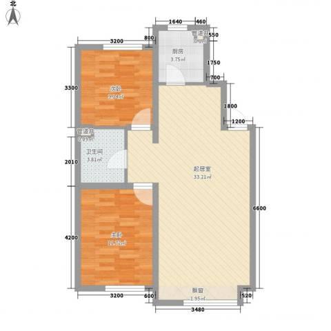 凯荣禧乐都2室0厅1卫1厨85.00㎡户型图