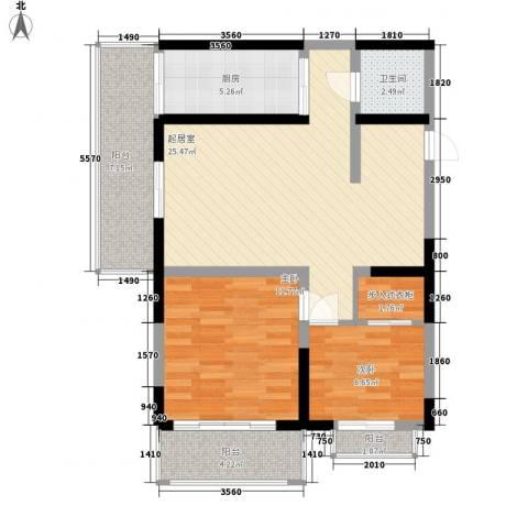 苏格兰风笛2室0厅1卫1厨98.00㎡户型图