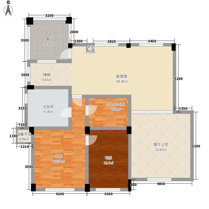 电力家和城257.00㎡T42栋40复式上层平面图户型2室1厅1卫
