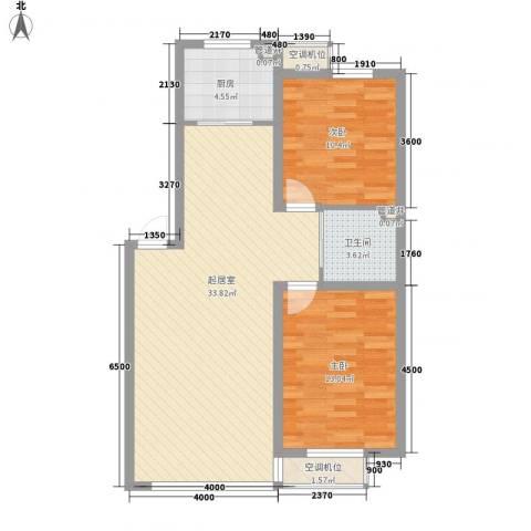 凯荣禧乐都2室0厅1卫1厨88.00㎡户型图
