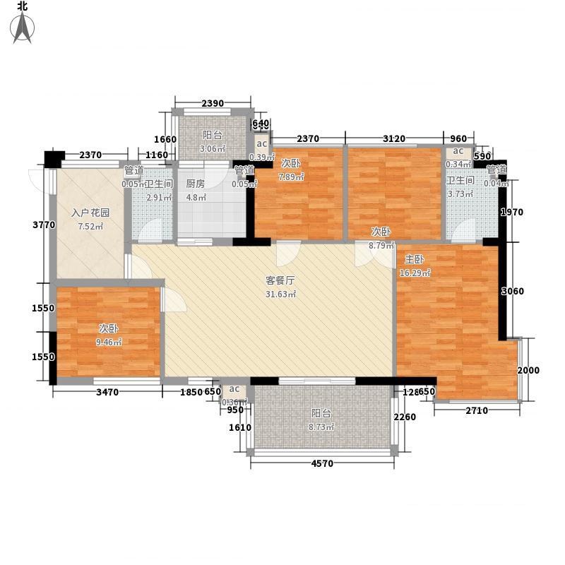 鑫隆世家户型图4室2厅户型图 4室2厅2卫1厨