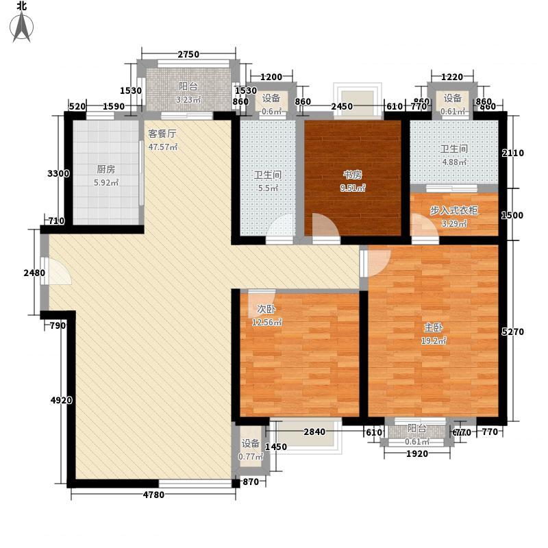 曲江6号户型3室