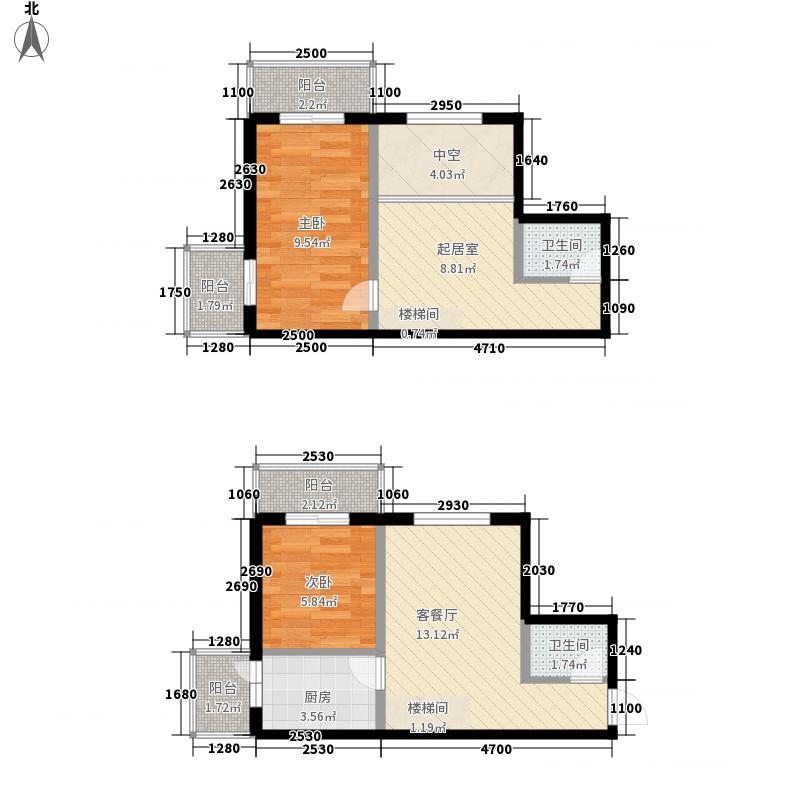 鸿盛春天76.26㎡鸿盛春天户型图A户型2室2厅2卫1厨户型2室2厅2卫1厨
