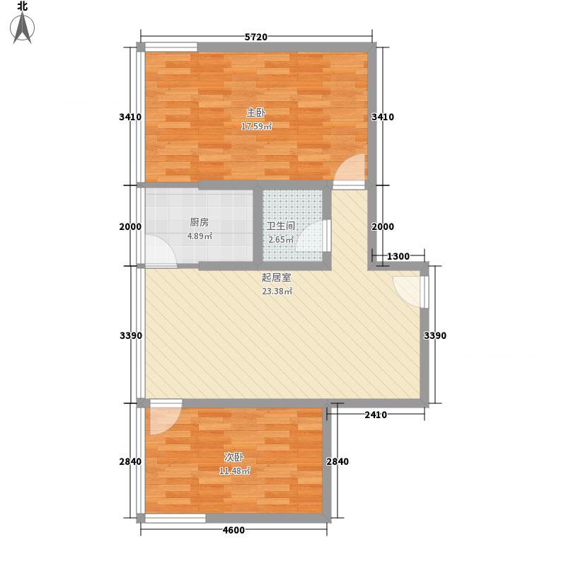 登高小区83.48㎡登高小区户型10室