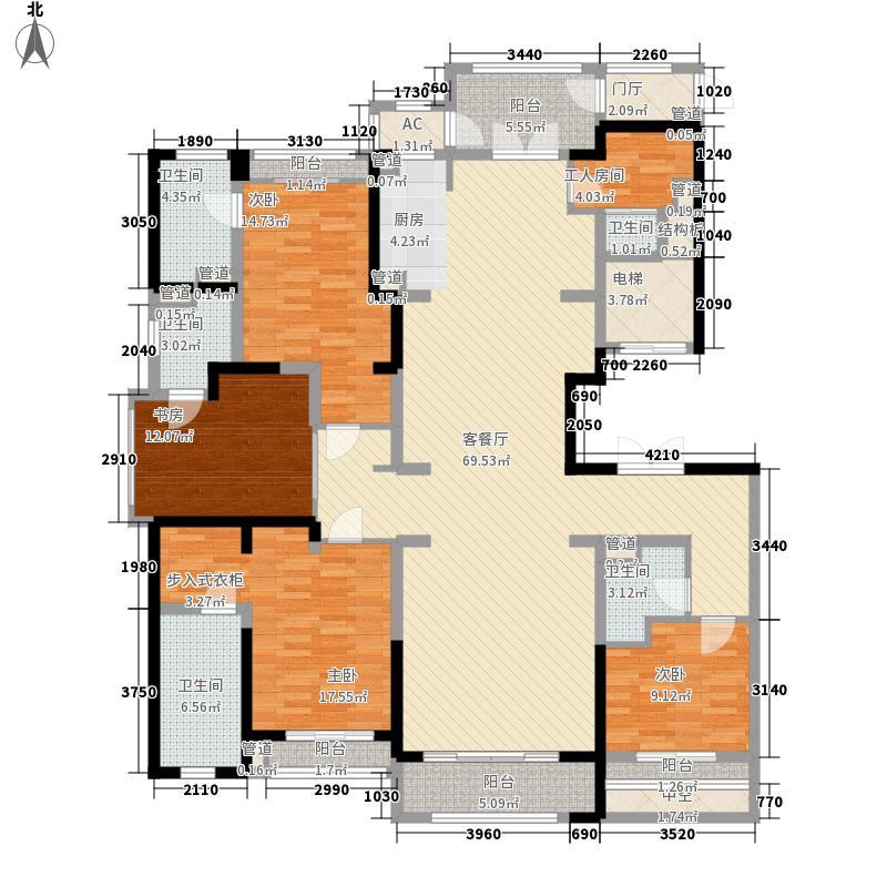 壹号公馆251.00㎡壹号公馆户型图G6号楼L户型4室2厅4卫1厨户型4室2厅4卫1厨