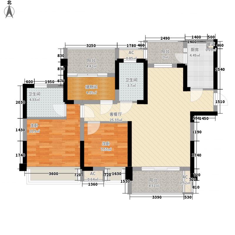 上林郡一期5、6、9号楼标准层A户型