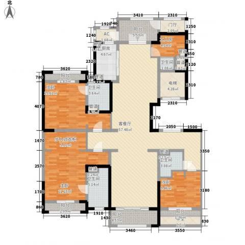 壹号公馆3室1厅4卫1厨225.00㎡户型图