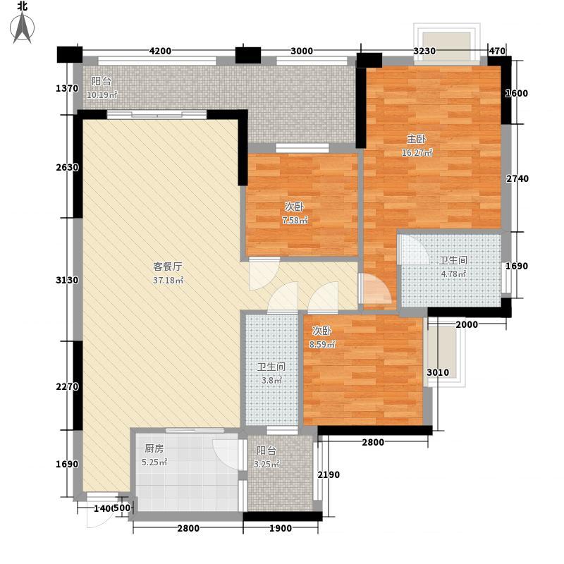 汇侨新城113.32㎡25座标准层05户型3室2厅2卫1厨