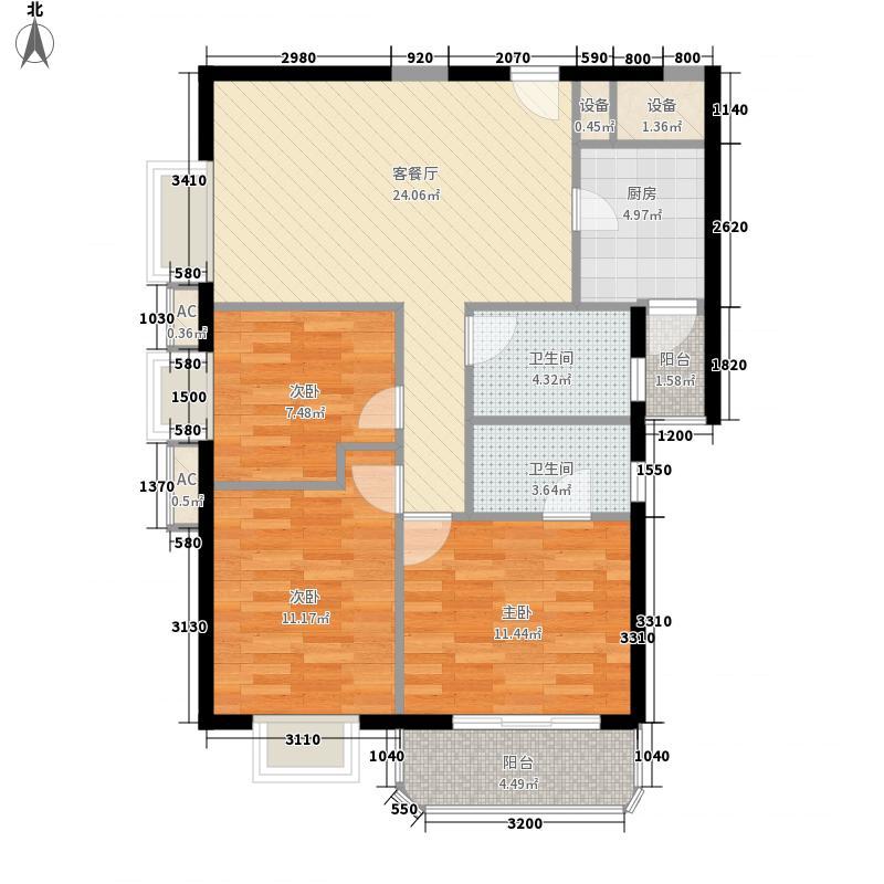群星广场18.00㎡户型3室