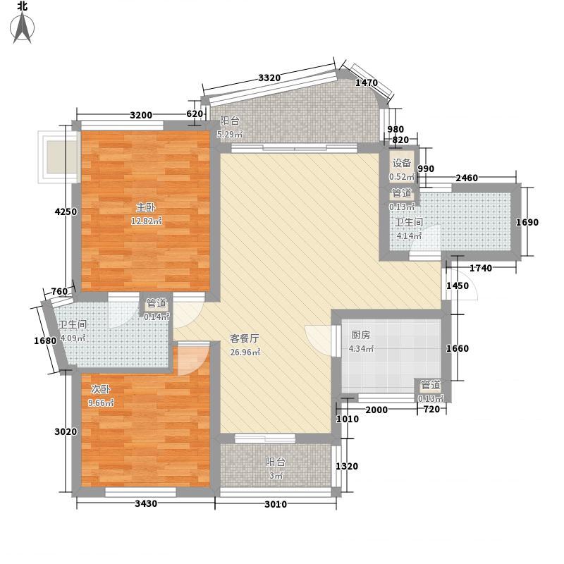 万宝威尼斯蓝湾A1户型2室2厅2卫