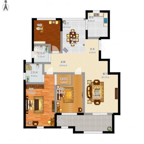 君悦・东湖公馆2室1厅2卫1厨149.00㎡户型图