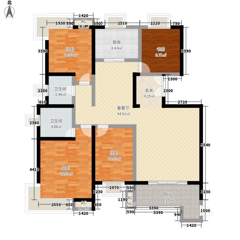 倚能黄河家园164.02㎡28号楼户型4室2厅2卫1厨