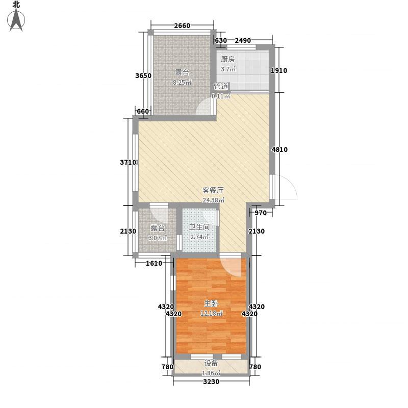 棠悦81.73㎡1#楼26层F3-2户型2室2厅1卫1厨