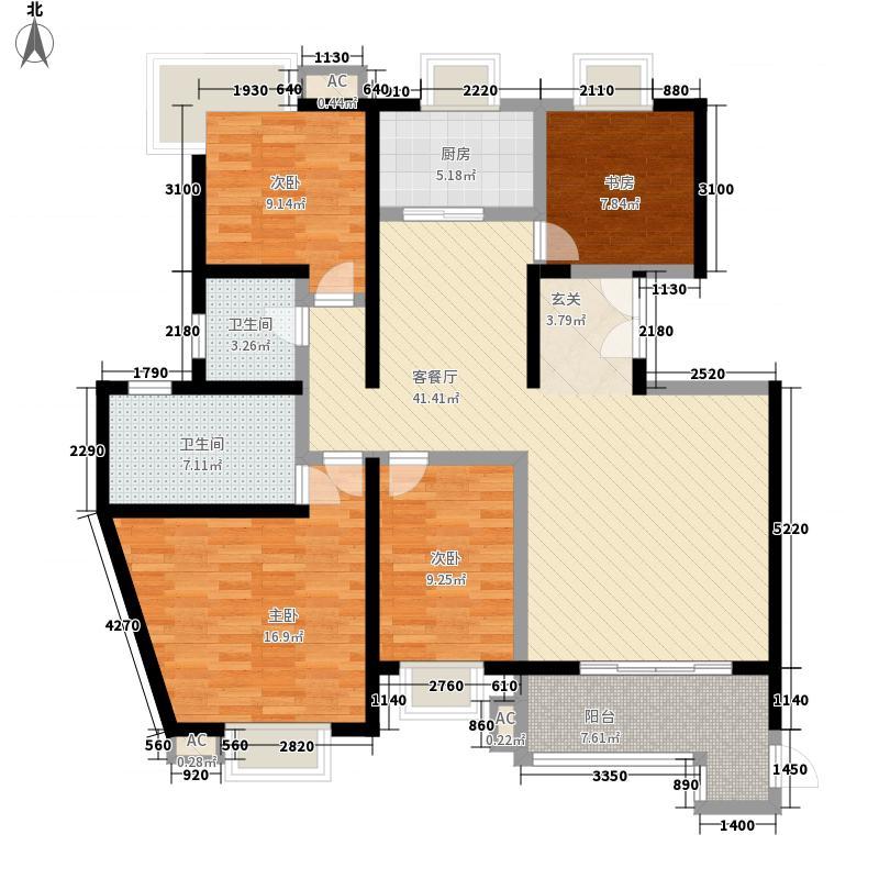 倚能黄河家园174.98㎡28号楼户型4室2厅2卫1厨