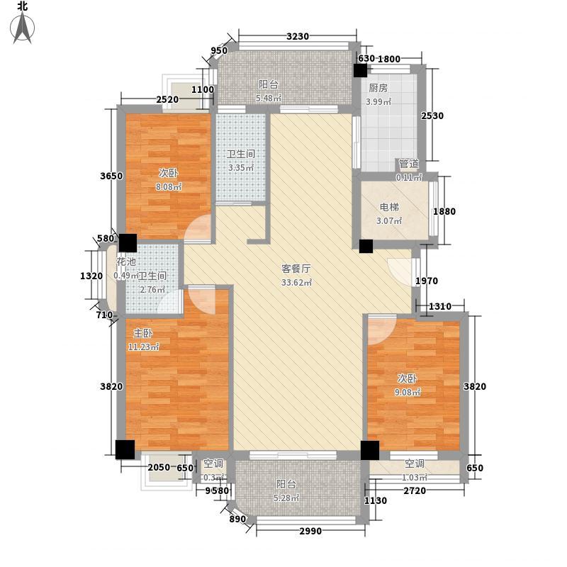 新景华府国际13.00㎡户型3室