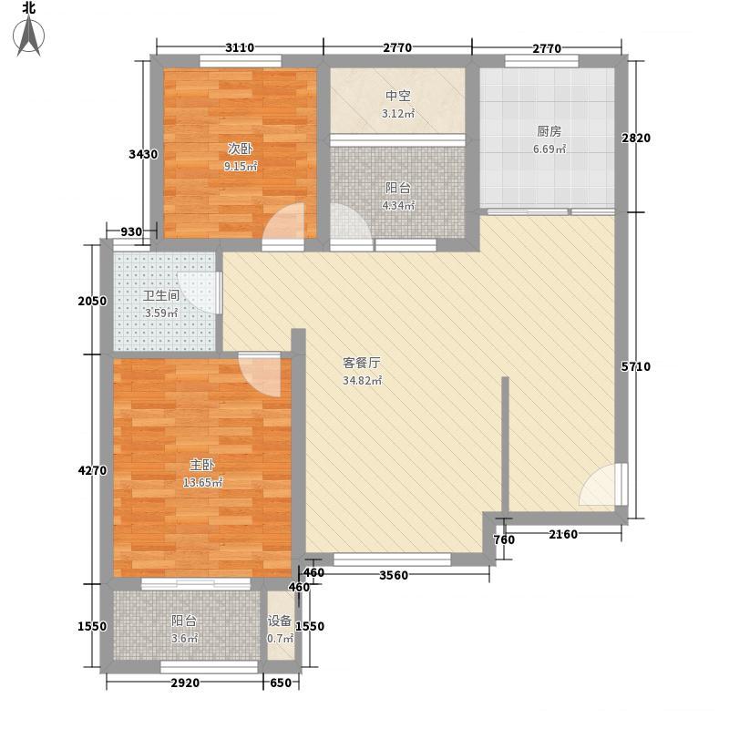 秦新巴塞罗那R2-D-户型2室2厅1卫1厨