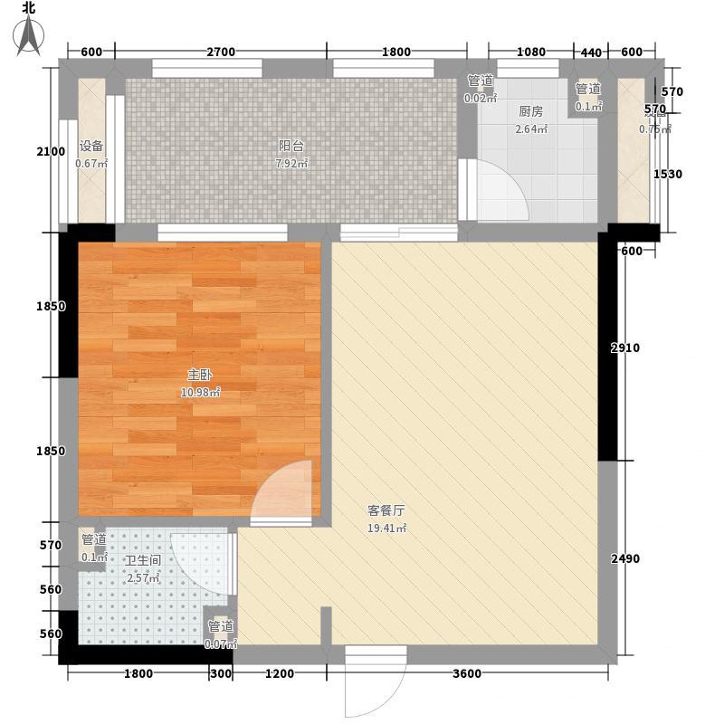 南国新城二期61.69㎡61.69㎡户型1室1厅