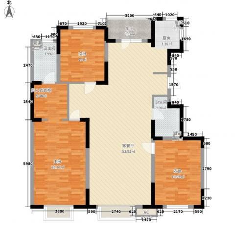 力旺美林3室1厅2卫0厨157.00㎡户型图