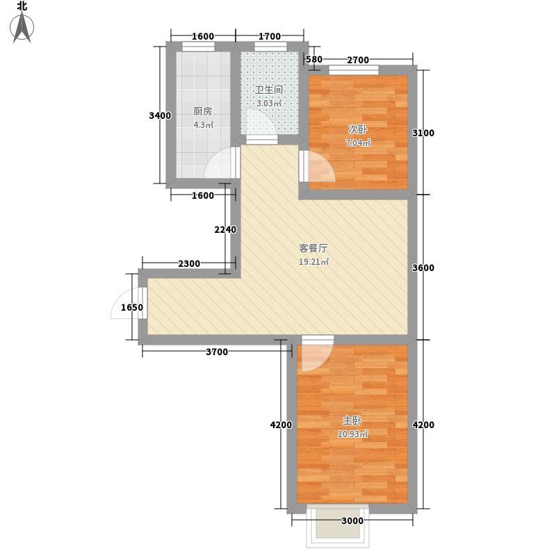 景城时代67.24㎡景城时代户型图小高层GC户型图2室1厅1卫户型2室1厅1卫