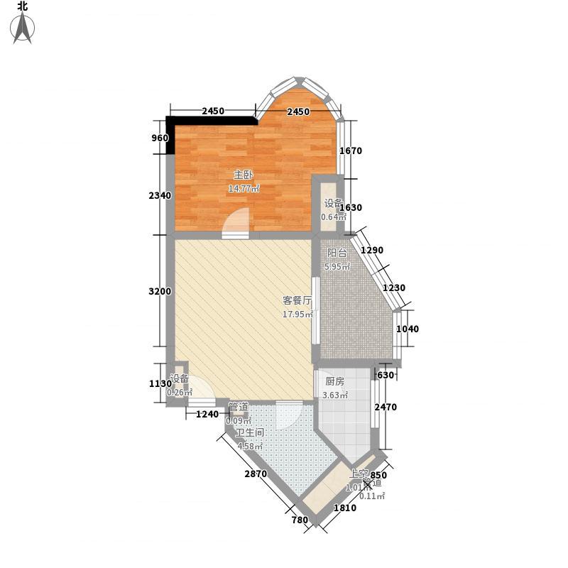 碧海蓝天三期03/06户型1室1厅1卫1厨