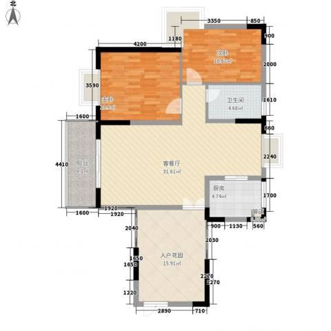 皇家公馆2室1厅1卫1厨92.00㎡户型图