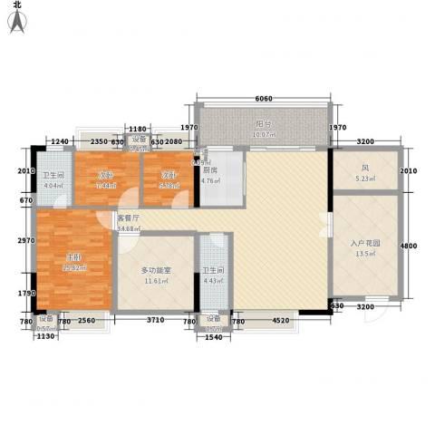 时代名轩3室1厅2卫1厨134.00㎡户型图