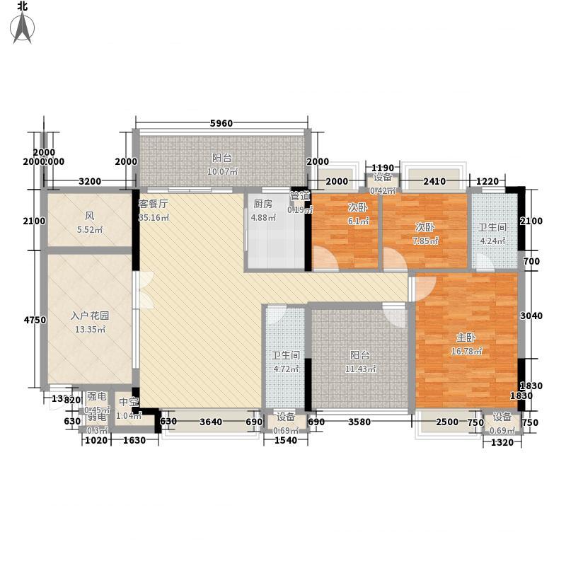 时代名轩135.00㎡时代名轩户型图01座2-17层平面图01单位135m23室2厅2卫1厨户型3室2厅2卫1厨