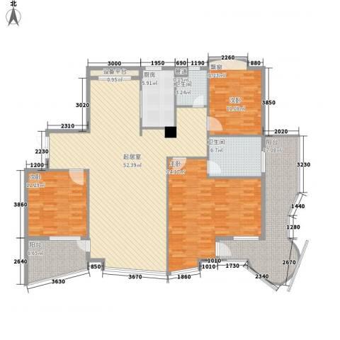 世嘉星海3室0厅2卫1厨167.00㎡户型图