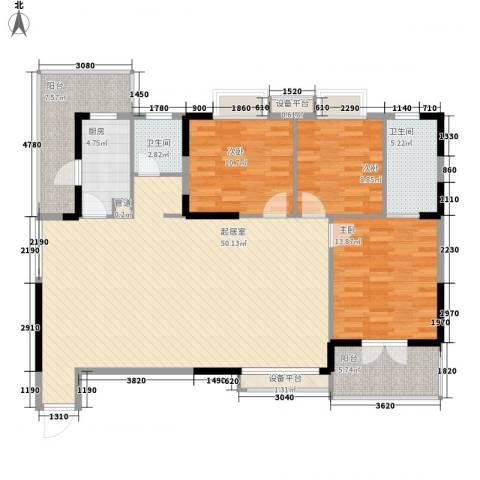 中御公馆3室0厅2卫1厨111.77㎡户型图