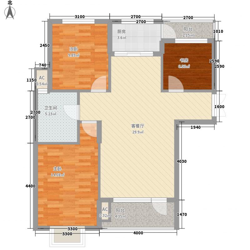 泰达慧谷悦城99.00㎡泰达慧谷悦城户型图A-1户型3室2厅1卫户型3室2厅1卫