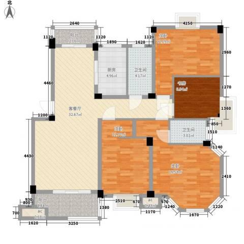 沃得雅苑4室1厅2卫1厨144.00㎡户型图
