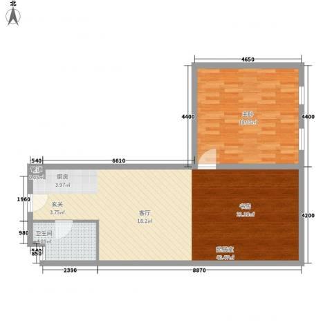 想想大厦1室0厅1卫0厨94.00㎡户型图