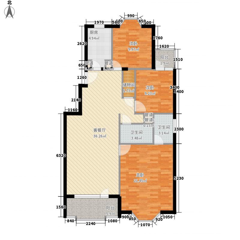 雅居园138.00㎡雅居园3室户型3室