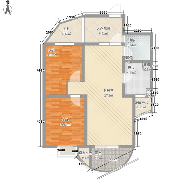 海航国兴城94.35㎡海航国兴城户型图G户型2室2厅1卫户型2室2厅1卫