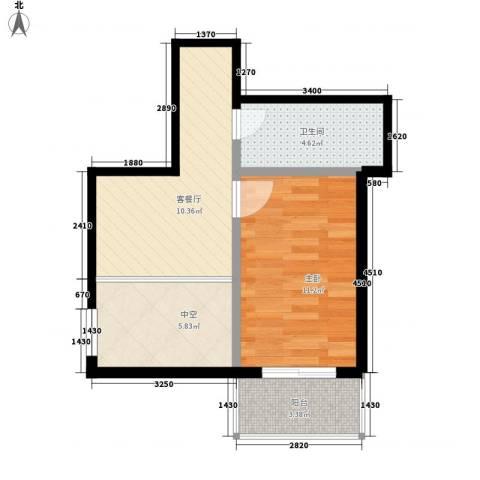 鸿盛春天1室1厅1卫0厨35.38㎡户型图