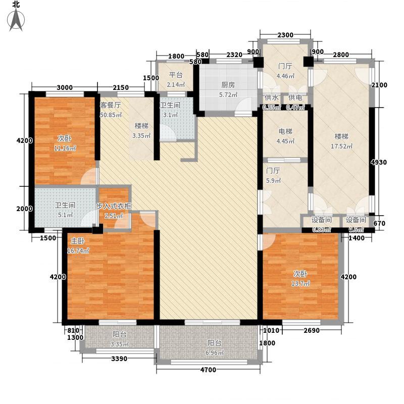 金石华府162.40㎡金石华府户型图3室2厅2卫1厨162.40㎡户型3室2厅2卫1厨