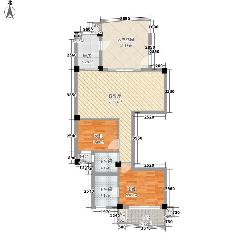 香樟林城市花园II期106.00㎡香樟林城市花园II期户型图A#G户2室2厅2卫1厨户型2室2厅2卫1厨