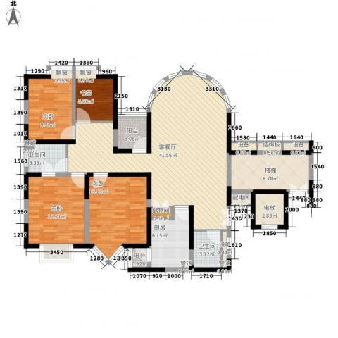 锦都花园4室1厅2卫1厨165.00㎡户型图