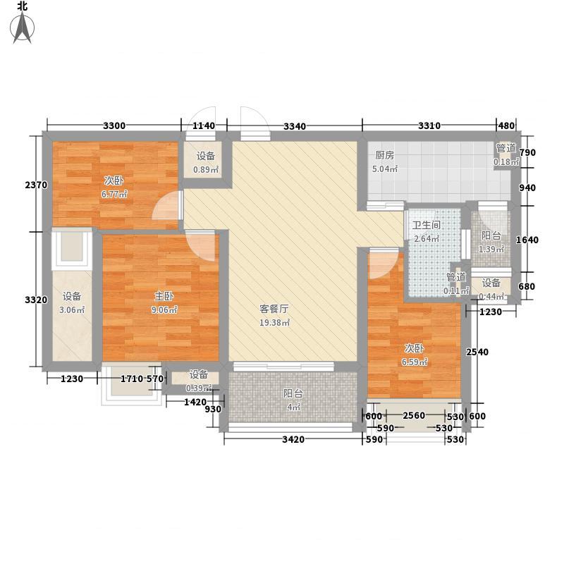 如东碧桂园89.00㎡如东碧桂园户型图J473-B户型3室2厅1卫1厨户型3室2厅1卫1厨
