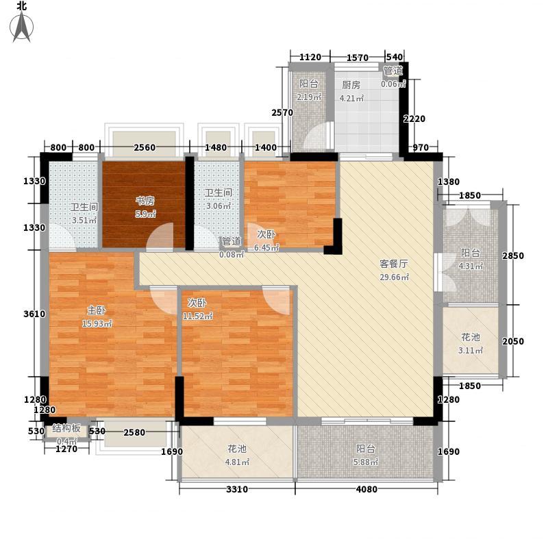 布宜诺斯144.47㎡A2栋16-18层02单面积14447m户型