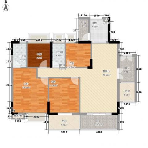 布宜诺斯4室1厅2卫1厨144.00㎡户型图