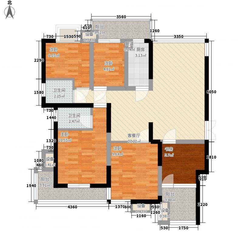 海西提125.25㎡8#04单元9#0108单元户型4室2厅2卫